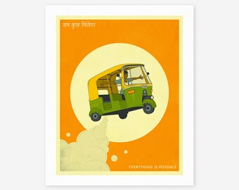 EVERYTHING IS POSSIBLE (Giclée Fine Art Print, Photo Print or Poster Print) Retro, India, Pop Art