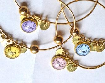 4 best friend bracelets, 4 best friend gift, friendship bangle