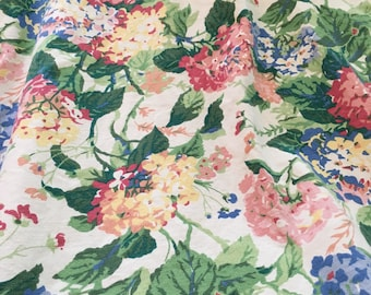 Vintage fabric Waverly Hydranges Bermuda Collection