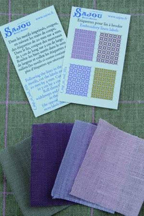 Haberdashery linen assortment of Sajou, DIY kit in miniature for the Doll House, dollhouse miniatures, purple