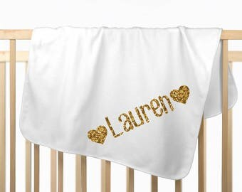 Personalized Baby Blanket, Newborn Baby Girl Blanket, Newborn Girl Take Home, Receiving Blanket, Swaddling Baby Shower Gift, -BLANKET ONLY