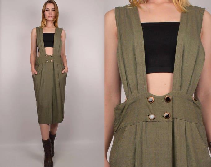 90's Moss Suspender Dress