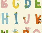 Kinder by Heather Ross - Alphabet in White