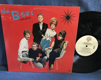 "Vintage, The B-52's - ""Wild Planet"" , Vinyl LP, Record Album, Original 1980 Press, Electro Pop, Punk, New Wave, Quiche Lorraine"