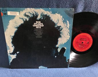 "Vintage, Bob Dylan - ""Greatest Hits"" Vinyl LP Record Album, Folk Rock, Like A Rolling Stone, Just Like A Woman, Mr. Tambourine Man"