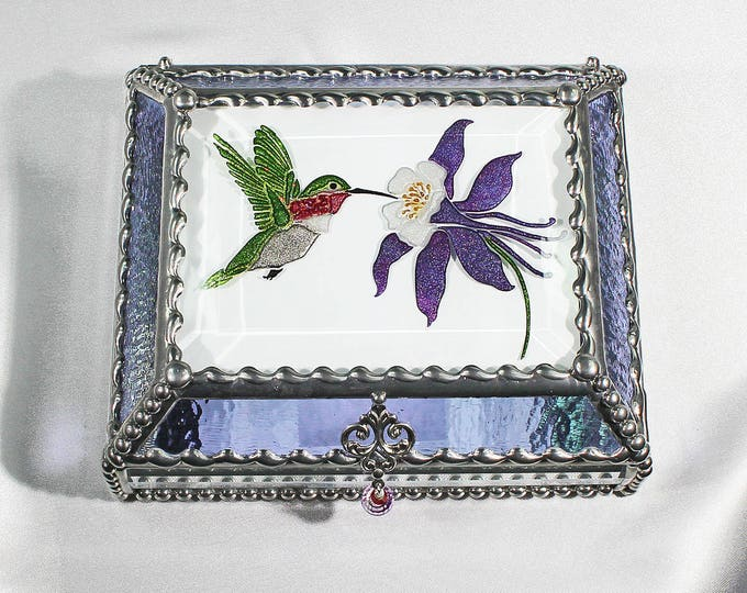 Hummingbird Hand Painted 4X5 Treasure Box -Treasure Box