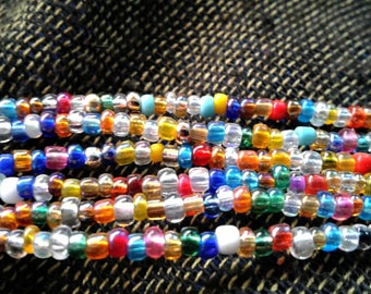 Multi-Strand and Many colors Seed Bead Bracelet