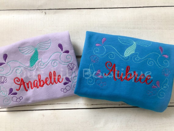 Mermaid Shirt - Monogram Mermaid Shirt - Mermaid Birthday - Mermaid ...
