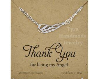 Silver or gold Angel Wing bracelet,delicate Angel Wing bracelet,memorial jewelry,Memory wing bracelet,Bridesmaid gift,Wedding bridal Jewelry