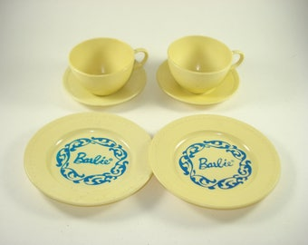 Vintage Play Plates - Barbie Doll - Cups, Saucers, Plates - Breakfast and Dinner - Reliable Brand Canada