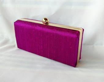 Orquid silk minaudiere clutch/ Wedding box clutch/ Personalized with decal clutch purse/ Evening party clutch/ Wedding color 2018