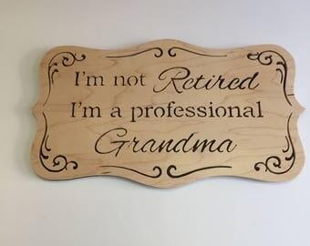 Grandma Wood Wall Hanging Plaque
