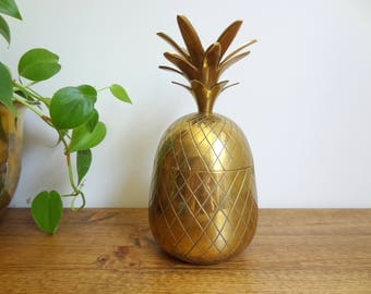 Vintage Brass Pineapple Jar/Container/Dish