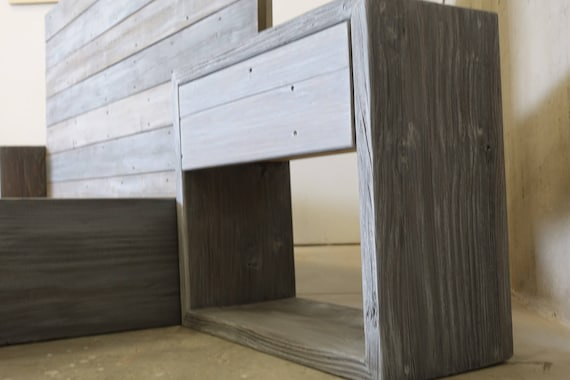 Customize modern nighstand with shelf and drawer