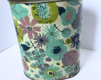Vintage Waste Basket  - Vintage Trash Can - 1970's Trash Can