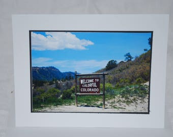 photo card, Welcome to Colorado, travel Photography