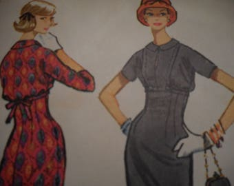 Vintage 1950's McCall's 4846 Dress Sewing Pattern Size 14 Bust 34