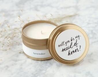 Bridesmaid Proposal Candle, Bridesmaid Proposal Idea, Be My Bridesmaid, Maid of Honor Gift, Personalized Bridal Party Gifts, Proposals