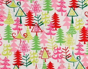 Planner Cover - in Michael Miller Funky Yule Trees fabric - F2