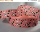 Colorful polka dots grosgrain Ribbon, Pink ribbon with polka dots, Ribbon Shop, 1 inch Ribbon by the yard, RN14829