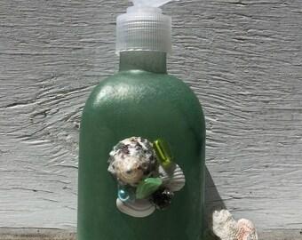 Seashell Soap and Lotion Pumps,Seashell Soap Pump, Beach Bathroom, Coastal Bathroom, Bridal Shower Gift, Unique Gift, Hostess Gift
