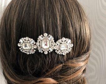 Art deco Bridal Hair Comb - Hair comb - Great Gatsby hairpiece - 1920s dress - vintage hair comb - hair slide.