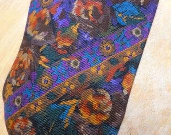 Tango Max Raab Flowers rayon wool necktie