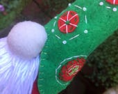 Christmas Tomte ~ hand sewn and embroidered felt Tomte (Nisse)