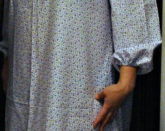 Prairie Dress  100% cotton calico  print  Frontier Reenactment Rendezvous Pioneer