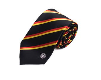 Germany Tie - Inspired by the German Flag with Personalized Tag. LDS Missionary. Husband Gift, Missionary Gift. Fathers Day Gift.