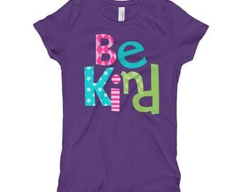 Be Kind Girl's T-Shirt kind shirt be kind to all positive kids shirt