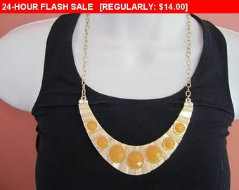 vintage necklace, bib necklace, statement necklace, estate jewelry #C