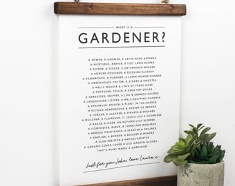 Gardener Print - Gardener Poem - Gardener Wall Art - Gardener Verse -What Is Gardener? - Gardener Poster - Gift For Gardener- Gardening Gift