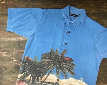 Corduroy Palm Tree Shirt