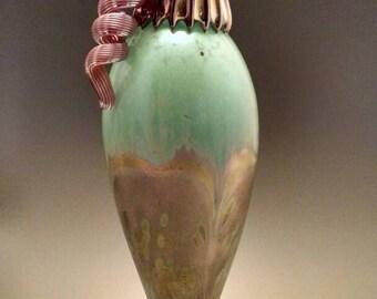 Celadon top Jack Pine glass hummingbird feeder use promo code FREESHIPPING