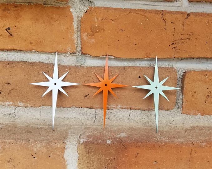 Featured listing image: Starburst,Metal Starburst,Hardware,MCM,Mid Century,Mid Century Decor,Star,Kitchen Decor,Kitchen,Knobs,Metal Sign,Metal Decor,Address