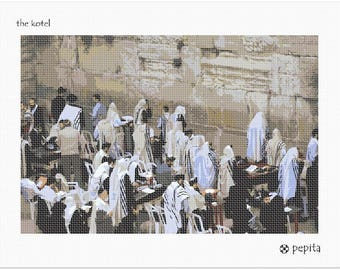 Needlepoint Kit or Canvas: The Kotel