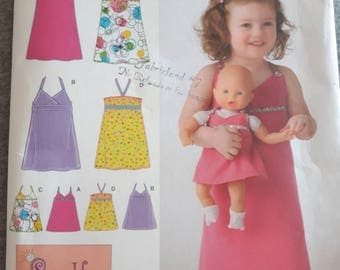 Simplicity 2946, Toddler's Dress, and Doll Dress Pattern