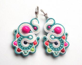 Earrings-soutache-boho-ethnic-handmadeJevelery-OOAK Funfair