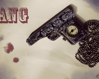 Necklace Gun Watch-Bang