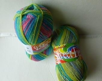 Sale Candy  Sweet Feet Sock Yarn by Mary Maxim