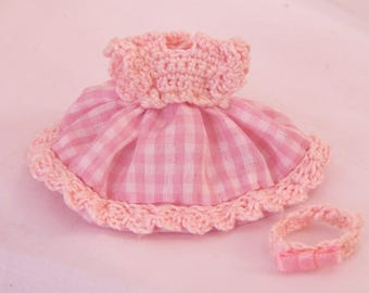 Little girl dress, doll house, miniature, 1/12 scale