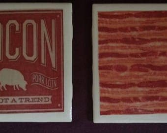 Bacon Coasters set of four