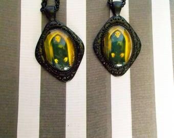 Horror Movie Earrings - Vampire Earrings - Halloween Jewelry - Gothic Jewelry - Black Earrings for Women - Dangle Earrings - Horror Earrings