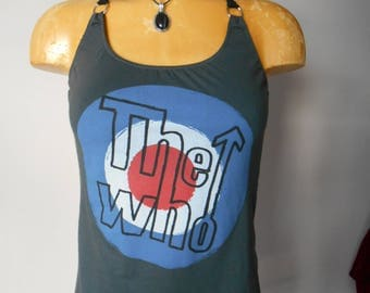 The Who halter top Reconstructed DIY English Rock Band