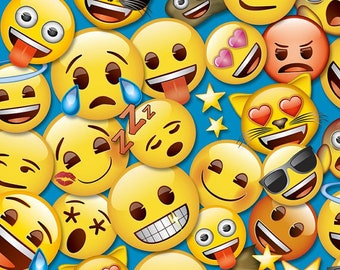 """Custom Made """"Emoji Party Blue"""" Items Available in Different STYLES!! Prices Starting @:"""
