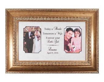 Wedding Gift Parents Personalized Wedding Gift Parents Bride Gift  to Mom Custom Photo Frame Groom Gift Bride Gift Mother-in-Law Gift
