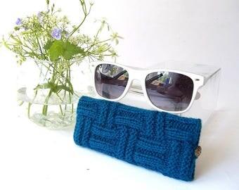 Teal Glasses Case. Eyeglasses Case. Eye Glasses Holder. Sunglasses Case. Sunglasses Holder. Spectacles Case. Specs Holder.