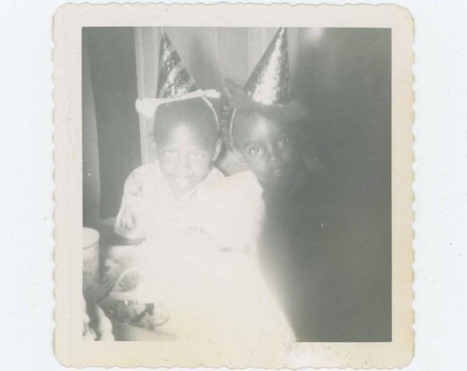 Party Hats: Vintage Snapshot Photo, c1950s [82653]