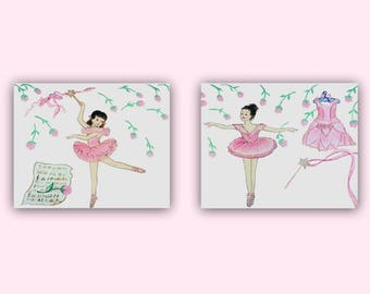 Ballerina Wall Art ballerina wall art baby girl nursery ballet room decor